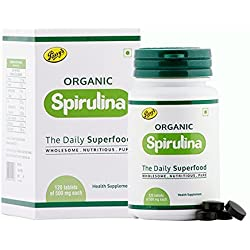 Parry Wellness Organic Spirulina Tablets - 120 Tablets (500mg Each)