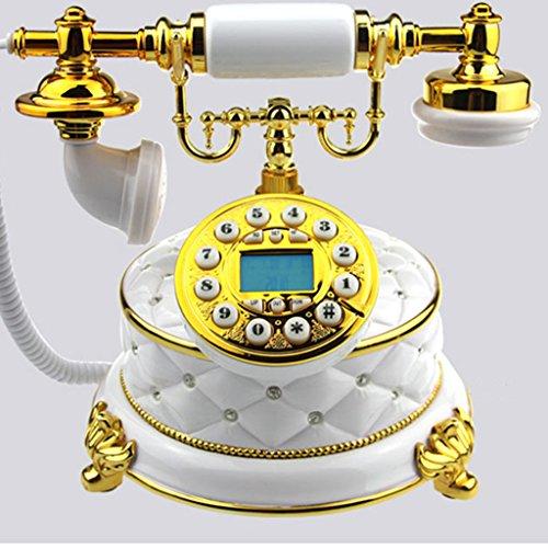 LFF.FF Europäische Antike Telefon Antik Diamant Juwel Telefon Home Office Retro Mode Antiken Festnetz (Juwelen Klassiker)