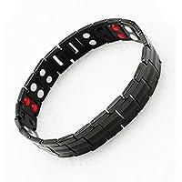 carejoy Vier neuen Element Armband Titan magnetisch Schwarz in Geschenkbox aus schwarzem Samt preisvergleich bei billige-tabletten.eu