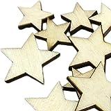 100psc Holz-Tasten ohne Löcher farben fünfzackigem Stern Tasten für Nähen und Basteln DIY Craft