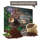 Kaffee-Adventskalender I Weihnachtskalender mit 24 köstlichen Kaffees aus aller Welt I Kaffeeweltreise Geschenkset erlesener feiner gemahlener Kaffee weltweit als Probierset