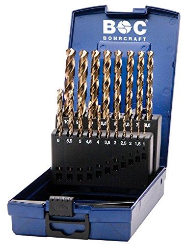 Bohrcraft 11401330019 Spiralbohrer Set HSS-E ABS-Box KE10, teilig, 19 Stck Durchmesser 1-10 x 0,5 mm, Stück -