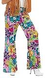 Diseño de impresión multicolor traje de neopreno para mujer Bold 1960s Hippy de destornilladores Flares Hippy con texto 1960s modelo para disfraz infantil de pantalones de 8-30 Plus tamaño de la funda de