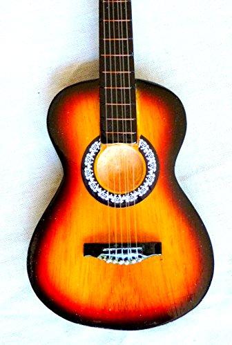 Guitarra en miniatura decorativa Mini Guitar Fender Telecaster 25cm mano de madera # 130