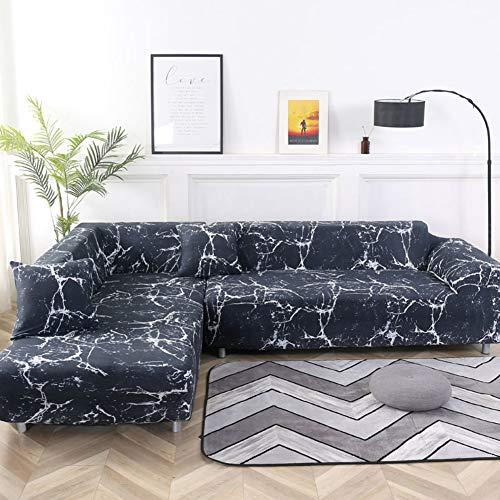 WYMBK Couch Sofa Überwürfe,elastische Sofa Überwürfe L-Form,Stretch Möbel-Cover Pet Hund Schnitt Eck Couch Abdeckungen Sessel Sofa Cover Couch-i Loveseats 145~185cm(57~73inch) -