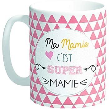 Les Trésors De Lily Q8493 Mug Tendresse Messages Ma Mamie Cest Super Mamie 95x80 Mm