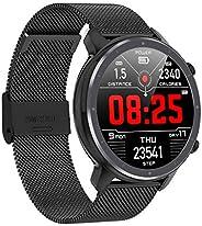 Smartwatch Regalo per Uomo,Jonurphy Smartwatch J11,Touch Screen da 1,3 Pollici,Impermeabile IP68,Tracker Fitne