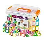 wokashaka Magnetic building Blocks-64 PCS Kids Magnet Toys Construction Building Tiles for Creativity Educational-Come...