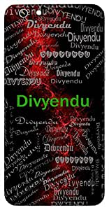 Divyendu (Bright Moon) Name & Sign Printed All over customize & Personalized!! Protective back cover for your Smart Phone : Samsung Galaxy ON-5