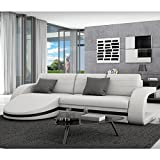 Innocent Sofa mit Schlaffunktion aus Kunstleder Weiß Guiani