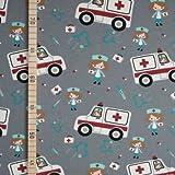StoffHandwerker Krankenwagen - Grau - Jersey