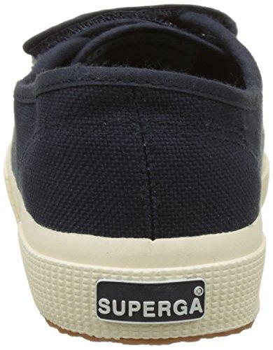 Superga 2750 Cot3velu, Sneakers basses mixte adulte Bleu (Navy)