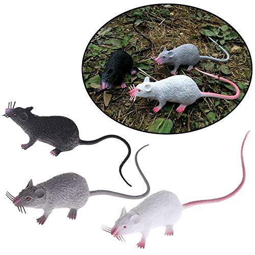à adr Realistic Looking gespenstisch mäuse ratten, super große mouce für Beste Halloween - Dekoration, Kinder neuheit und Gag - Spielzeug, 3 Farben ()