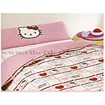 Colcha edredón Hello kitty 180 x 265 cm (cama de 90 cm) modelo valentines