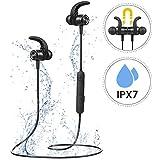 【Nouvelle Version】 Mpow S10 Ecouteur Bluetooth Sport, IPX7 Ecouteur sans Fil Sport, Ecouteur Bluetooth Magnétique Mains Libres&CVC 6.0 Micro Anti-Bruit, 9H Autonomie pour Jogging, Course, iOS&Android