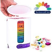 Preisvergleich für Coardor Medikamentendosierer 7 Tage Pillendose Pillenbox Wocheneinteilung Tablettendose Tablettenbox Wochendosierer...