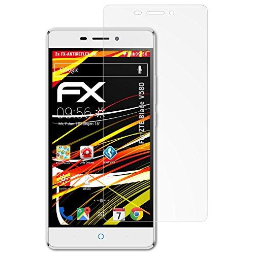 atFolix Schutzfolie kompatibel mit ZTE Blade V580 Bildschirmschutzfolie, HD-Entspiegelung FX Folie (3X)