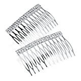 Bling Online 2pc Crystal Bar Hair Comb. by Amber