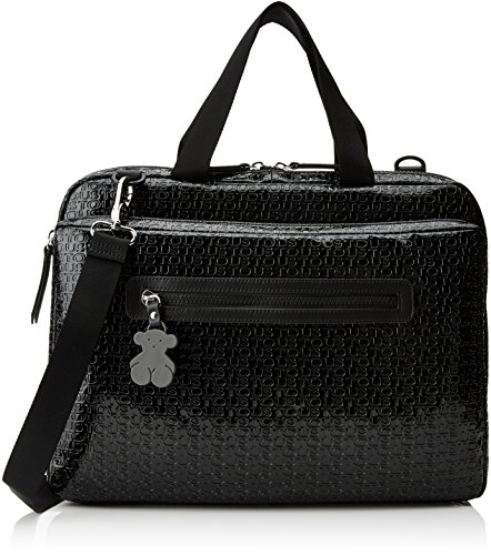 Tous 195890153, Bolso maletín para Mujer, (Negro), 38x29x3 cm (W x H...