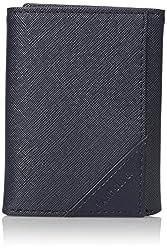 Van Heusen Mens Saffiano Trifold Wallet, Navy, One Size