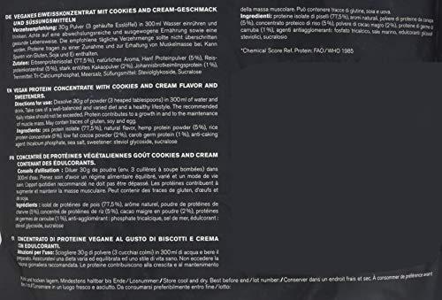 nu3 Vegan Protein 3K Shake - 1 Kg Cookies & Cream Blend - veganes Eiweisspulver aus 3-Komponenten-Protein mit 69{3b8bbaae129ce3dfb13f892054cd737aafeded38acc2e27905c5b4f5a3be6bb8} Eiweiss - Pulver zum Muskelaufbau mit Kekse Geschmack - Laktosefrei und zuckerfrei