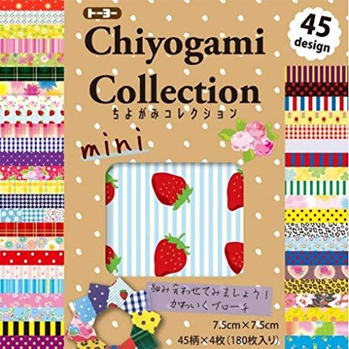 Origamipapier 018055, Chiyogami Collection Mini 7,5 cm x 7,5 cm 180 Blatt aus Japan