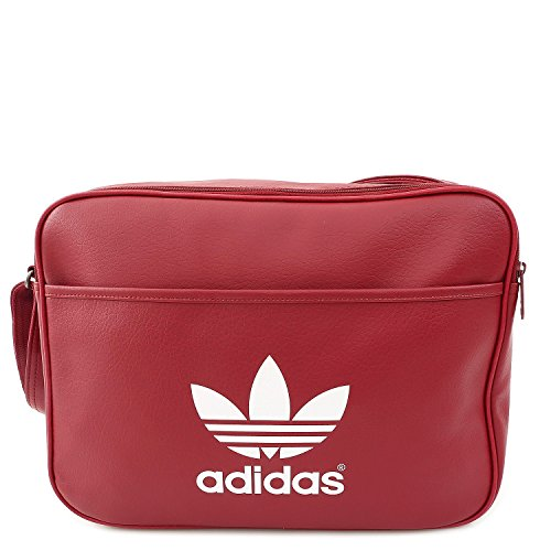 Adidas, Borsa messenger Airliner Classic, Rosso (Rust Red F15-St/White), 12 x 38 x 28 cm, 12 litri