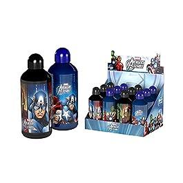 Avengers, Borraccia Alluminio 500 ml con tappo sicurezza, 39900 A