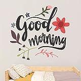 StickMe 'Good Morning Wall Sticker' - SM 218 ( PVC Vinyl - 50cm X 50 Cm )