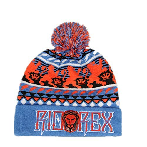 Riorex Winter Warm Knit Skull Hat Beanie Cap Fleece Lining Thick Slouchy Cable Acrylic Watch Hat