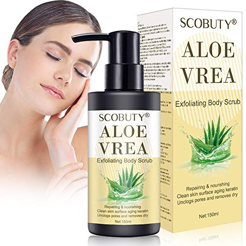Körperpeeling,Body Scrub,Peeling Körper,Aloe Vera Bad Dusche Peeling-Gel für Körper Hände Füße Trocken Beschädigte Hautentferner