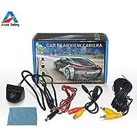 Auto Safety Impermeabile Posteriore Vision Macchina Fotografica Telecamera da Retromarcia CCD Angolo di Visione da 170 Gradi Vista Frontale Back Camera Avanti Reserve Parcheggio per Auto -Nero