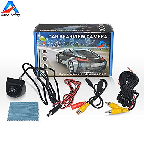 Auto Safety Waterproof Reverse Backup Parking Camera HD Color Night Vision Car Rear View with 170° Viewing Wide Angle Viewing Rearview Camera For All Car -