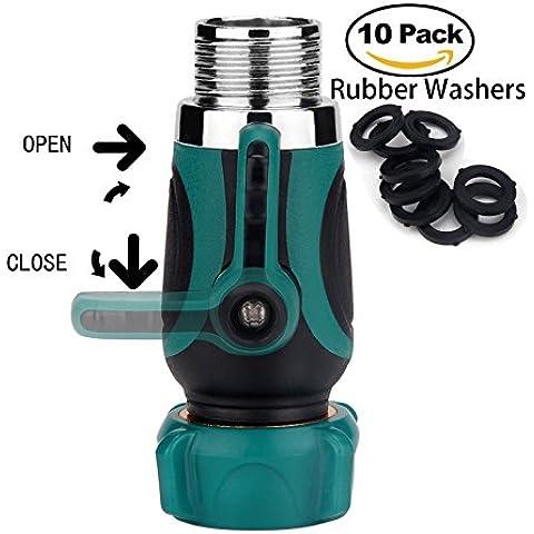 angertech 1-way spegnimento collettore esterni IP rubinetto, Sprinkler, Dr compatibile con sistemi di irrigazione. include: 10Rondelle in gomma + 3ANNI DI GARANZIA
