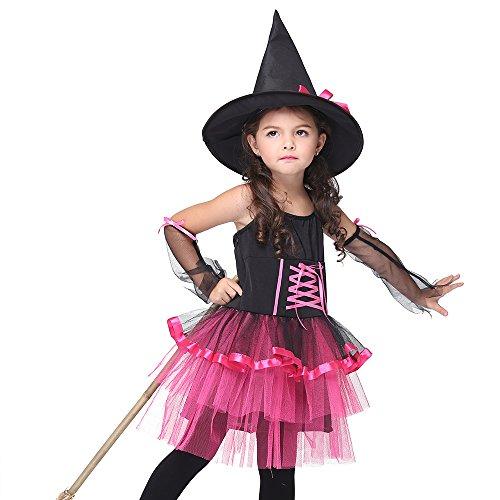 Uleade Baby Mädchen Hexe Halloween Kostüm Kinder Festival Performance Kostüm Party Cosplay Kleider Outfit