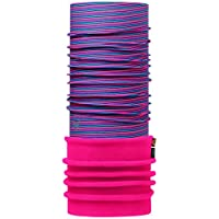 Original Buff Polar Buff® Rosa Fluorescente Stripes/Rosa Fluorescente - Polar Buff para Unisex, Color, Adulto