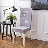 Sweetlife, Coprisedia universale con rivestimento elastico per sedie da pranzo, morbido, confortevole, con stampa, per matrimoni, sala da pranzo, ufficio e sedie di casa B