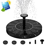 Solar Fountain Pump, [ZealBea Focus] Solar Powered Bird Bath Fountain Freestanding Submersible Solar Outdoor Panel Kit Water Pump Solar Springbrunnen for Birdbath, Pond, Pool,Garden Fish Tank and Lawn【2018 Upgraded】