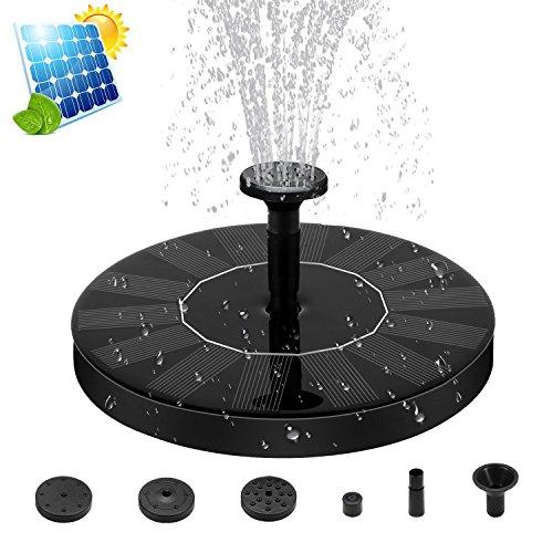Descripción del Producto:  Nombre del producto: Bomba de fuente accionada solar De color: Negro  Atención: por favor mire la película protectora en el panel solar antes de usar.