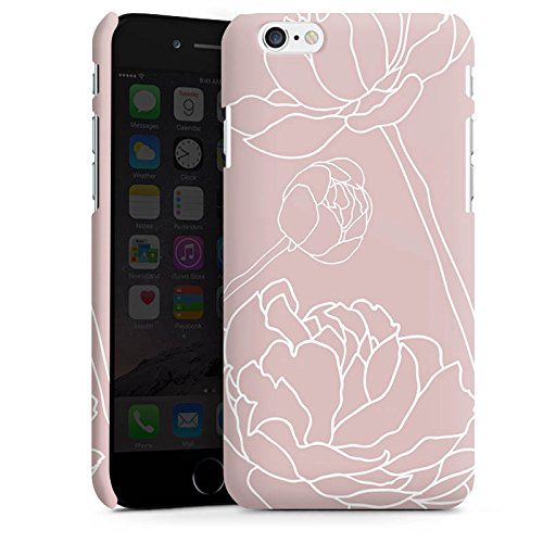 Apple iPhone X Silikon Hülle Case Schutzhülle Blumen Motiv Flower Premium Case matt