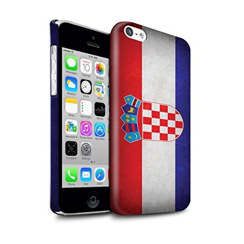 STUFF4 Glanz Snap-On Hülle / Case für Apple iPhone X/10 / Griechenland/Griechisch Muster / Flagge Kollektion Kroatien/Kroatisch