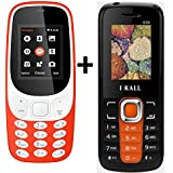 I KALL K3310 (Red) Special Gift Combo With K99 (Orange) Basic Feature Mobile Phone