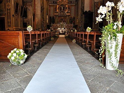 Rollo de alfombra para ceremonia, blanca, para boda, con protector, 100 m de largo x 30 m de ancho