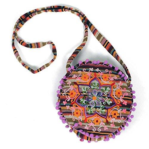 HAB & GUT (IB00V) diversi disegni e colori, Borsa donna indiana, 100 % cotone, borse a tracolla colorate SARALA