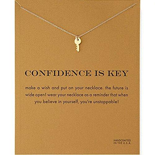 Elistelle Halsketten Für Damen Mit Anhänger Schlüssel Muster Gliederkette Kurz Halsband Schmuck (Multi Kleine Kinder Bekleidung)