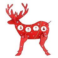 Taglia:  L * H * W 27x33x8cm  Peso:  120g  Questo disegno è bello e carino, per creare un'atmosfera natalizia.  La decorazione in legno di arenaria di renna in legno di Natale per la festa di Natale di Natale, porta la felicità e la gioia de...