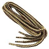 REMA 1 Paar Schnürsenkel - rund - dick - Ø 4,5 mm in verschiedenen Farben und Längen (120 cm, Beige/Natur/Oliv)