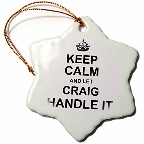 Ornaments zu malen personalisiertem Namen Design - Keep Calm and Let Craig Griff IT - Funny Personalisierte persönlichem Namen -