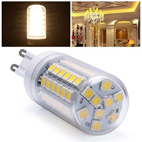 G9 10W LED Leuchtmittel lampe Warmweiss 3000K 510Lumens Beste Qualität !!! 1A Klasse 48 x SMD 5050 Ersatz 80-100W Glühlampe (Ersatz 1a)
