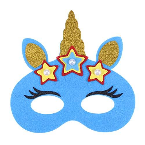 Beaupretty einhorn maske katze ohr halbe gesichtsmaske kitty horn augenmaske glitzer licht maske pailletten maske für halloween kostüm - Kitty Katze Gesicht Kostüm